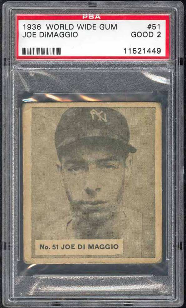 What Is Typically Considered Joe Dimaggios Rookie Card