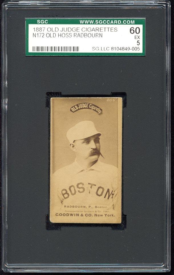 1887 N 172 N172 Old Judge Cigarettes Old Hoss Radbourn Sgc 60 Ex